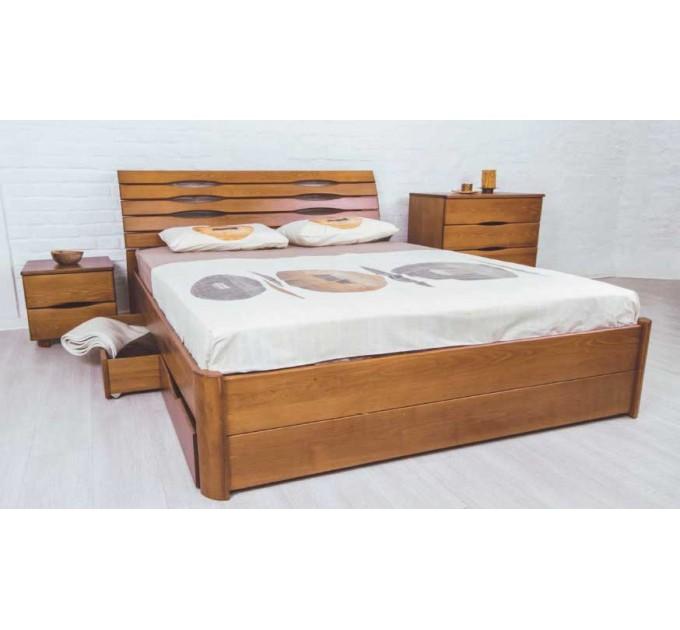 """Кровать """"Марита Люкс с ящиками"""" бук"""