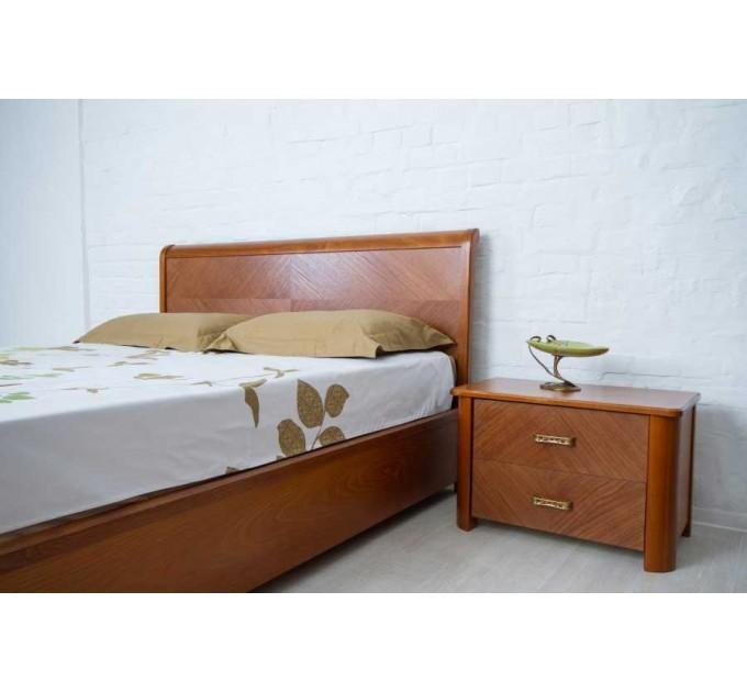 """Кровать """"Милена"""" с интарсией, бук"""