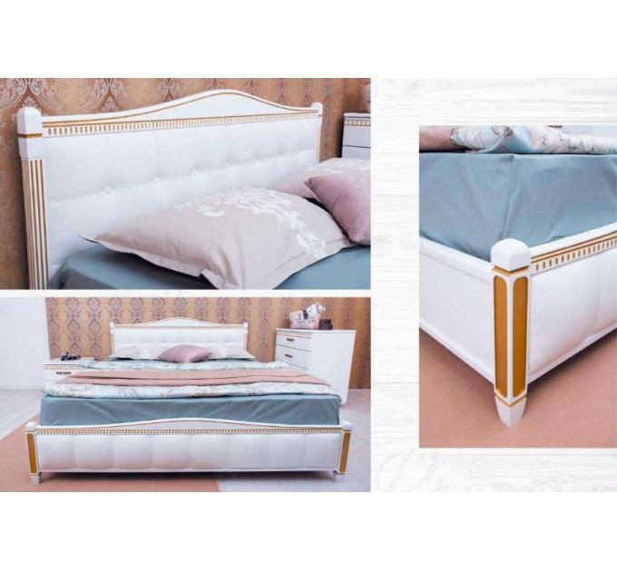 """Кровать """"Прованс"""" патина, фрезеровка, спинка квадраты, подъемная рама"""