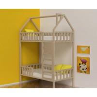 Двухъярусная кровать-домик Чебурашка