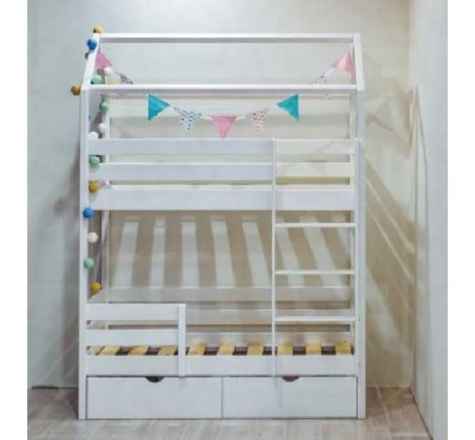 Детская кровать-домик Белла двухэтажная