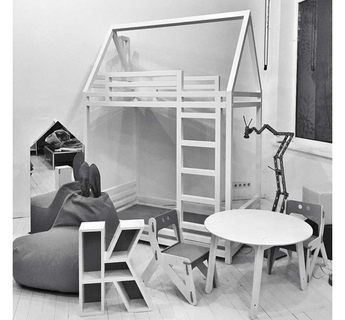 Детская кровать-домик Барбара двухэтажная