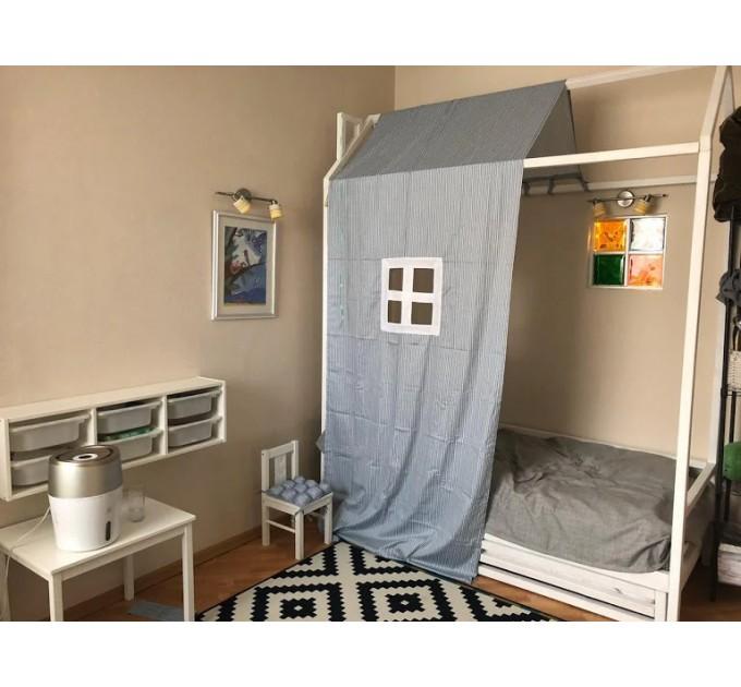 Білий будиночок ліжко Галактика