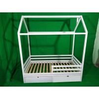 Белый домик кроватка Фунтик с ящиками