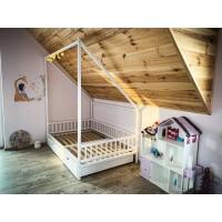 Білий будиночок ліжко Губка Боб з ящиками