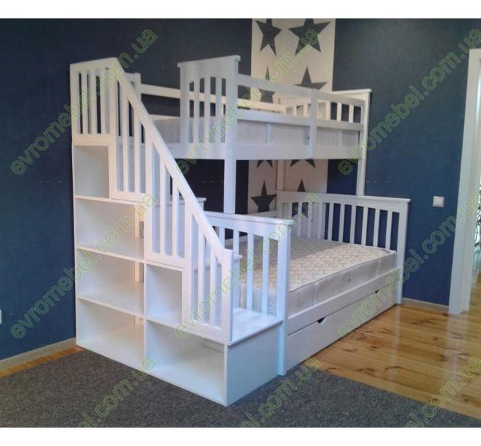 Двухъярусная кровать Флагман на три спальных места