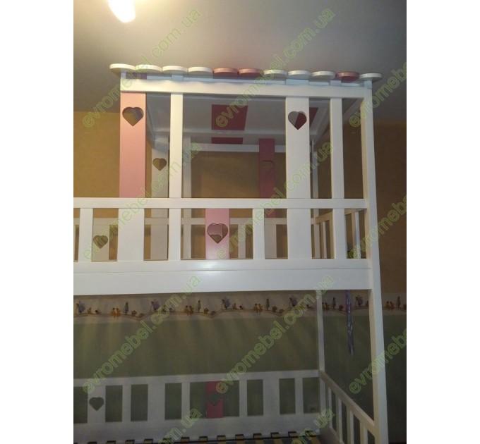 Двухъярусная кровать-домик Молли, белая