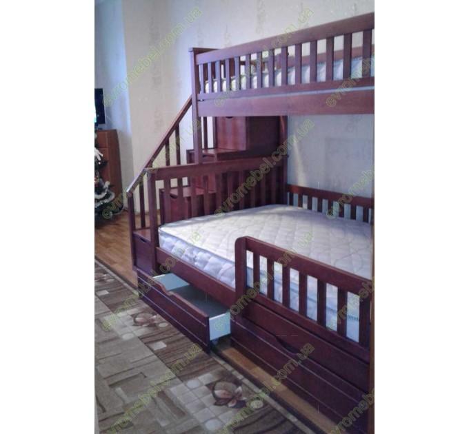 Трехместная двухъярусная кровать Соната