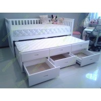 Дитяче ліжко Доллі, біла, дворівнева