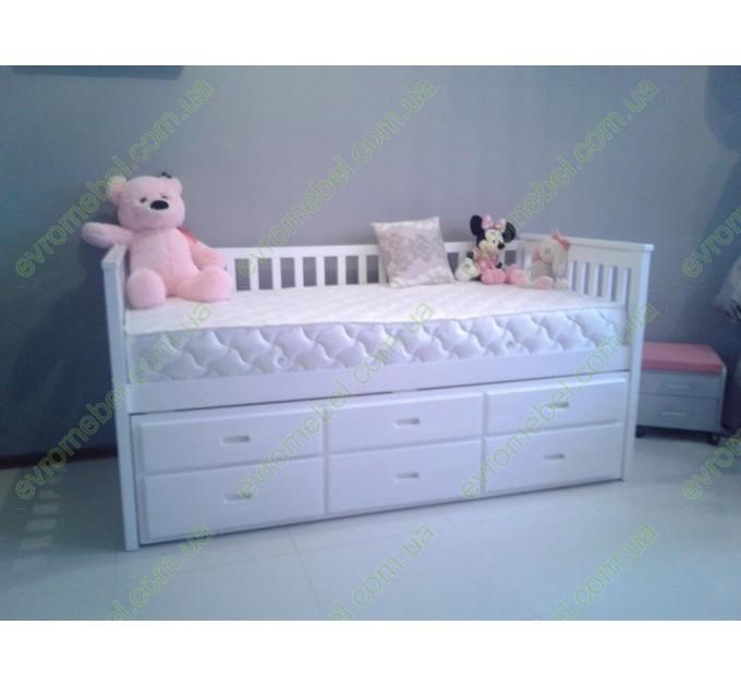 Детская кровать Долли, белая, двухуровневая