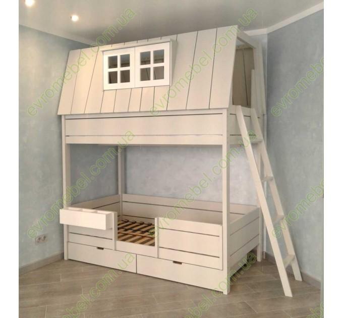 Двухъярусная кровать-домик Карлсон