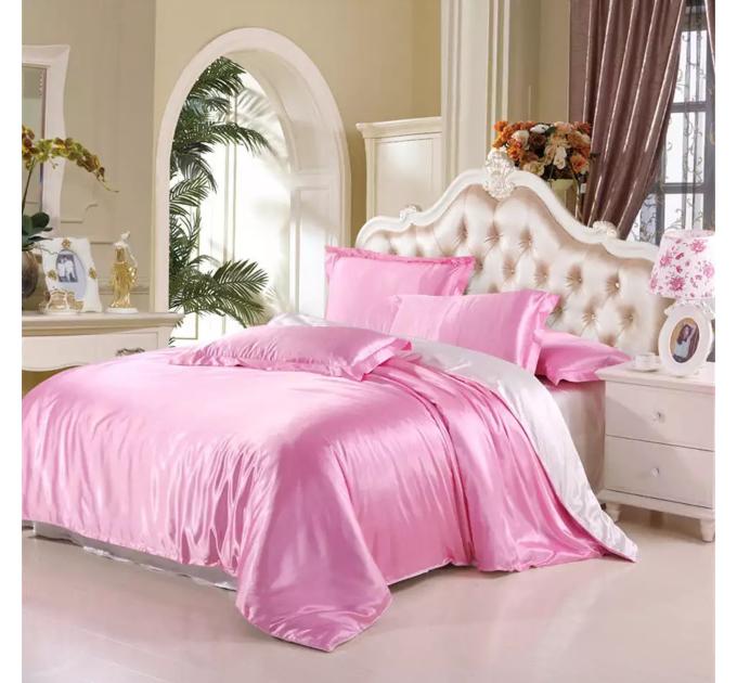 Атласное Розово-белое