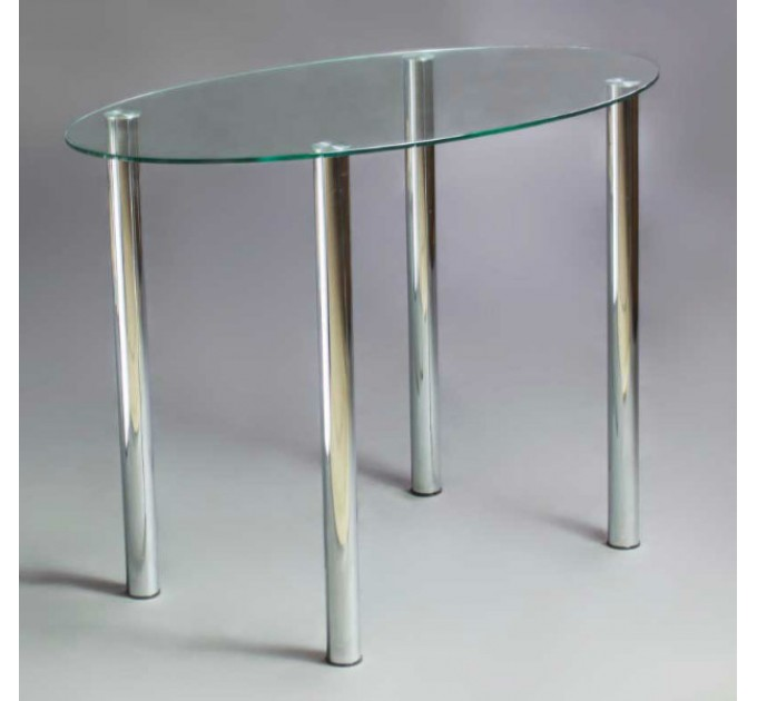 Обеденный стол Овальный прозрачный