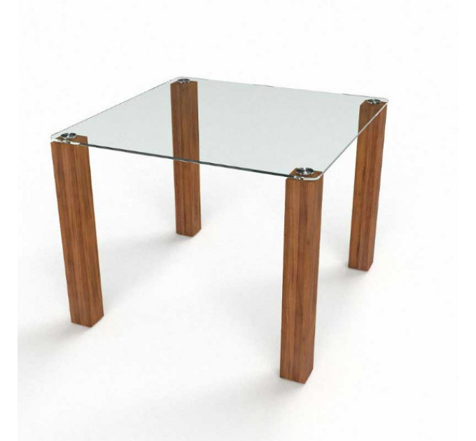 Обеденный стол Квадратный прозрачный