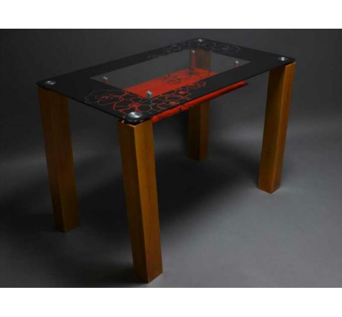 Обеденный стол Маки (с полкой)