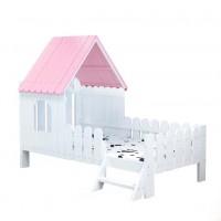 Детская кровать домиком Дюймовочка, белая