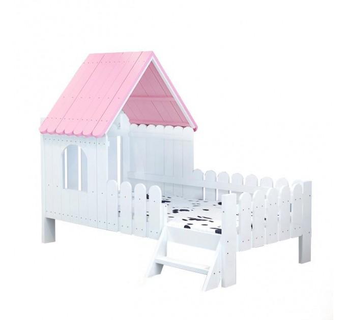 Дитяче ліжко будиночком Дюймовочка, біла