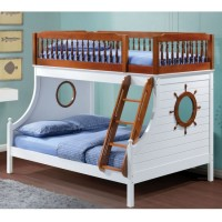Двухъярусная кровать для троих детей Корабль