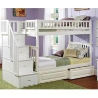 Двоярусне ліжко Лорд зі сходами-комодом і ящиками