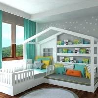Детская кровать Шрек, домиком