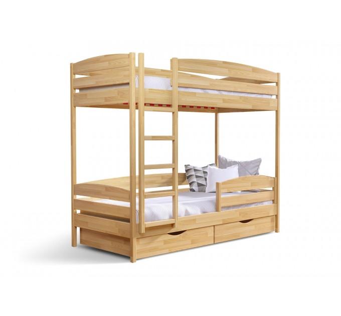Двоярусне ліжко Дует плюс з бука
