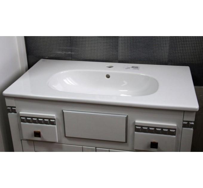 Тумба в ванную Грация c серебряной  патиной