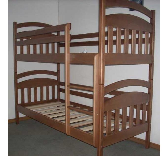 """Двухъярусная кровать """"Деонис"""" из бука"""