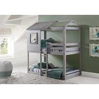 Двухъярусная кровать-домик Лесовичок