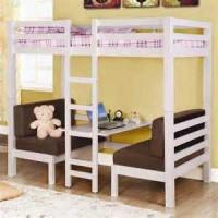 Кровать-чердак Марго с диванчиками