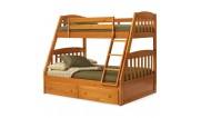 Двоярусні тримісні ліжка