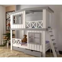 Двухъярусная кровать-домик Антошка