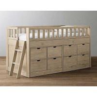 Детская кровать-чердак Камелия с двумя комодами