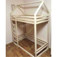 Кровать-домик Домовенок двухъярусная