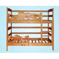 Детская двухъярусная кровать-трансформер «Элен»