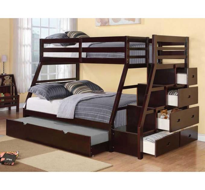 Двоярусне ліжко Кайман на три спальних місця