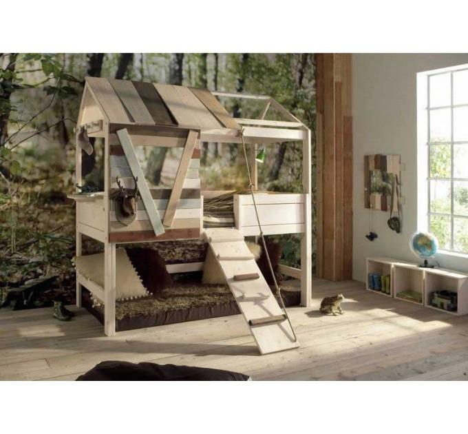 Двухъярусная кровать-домик Лунтик