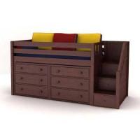 Детская кровать-чердак Трейсер с комодами