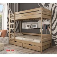 Двоярусне ліжко Дует з бука