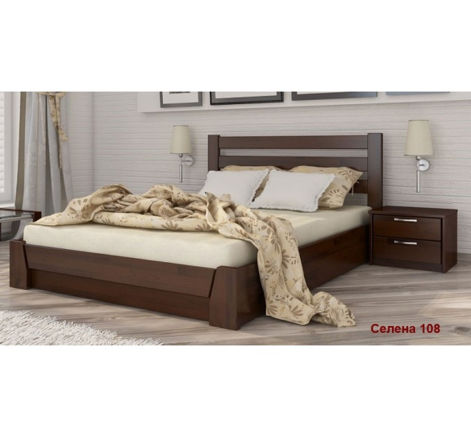 Кровать Селена из бука с подъемным механизмом