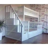 Двухъярусная кровать Соната с лестницей комодом