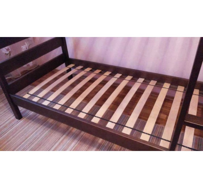 Двоярусне ліжко-трансформер Твайс з бука