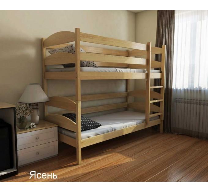 Двох'ярусне ліжко трансформер Лаккі з бука
