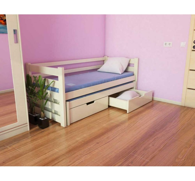 Кровать Соня двухуровневая, подростковая из бука
