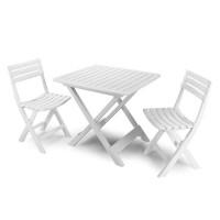 Комплект Camping (2 стула) белый, антрацит