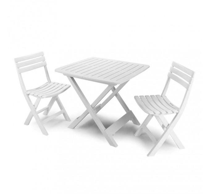 Комплект Camping (4 стула) белый, антрацит