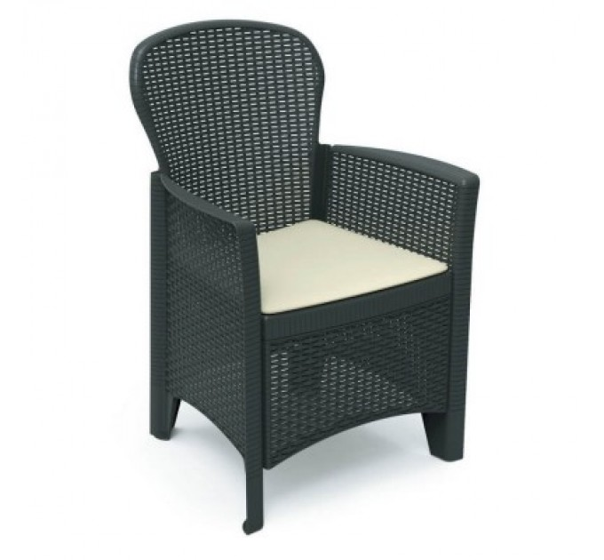 Кресло Folia Antracite с подушкой
