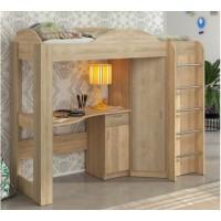 Кровать чердак с рабочей зоной и шкафом Орбита