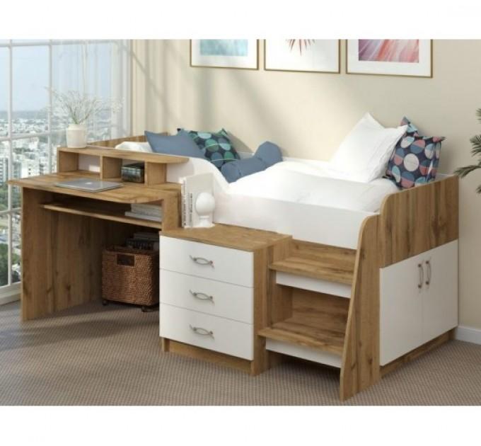 Подростковая кровать с рабочей зоной Спейс