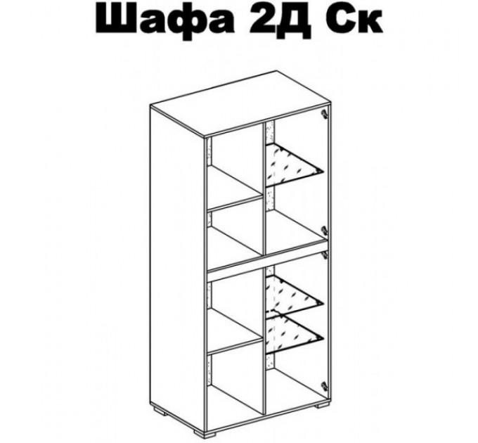 Шкаф Бьянко 2Д Ск